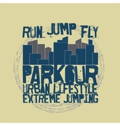 Parkour concept t-shirt vector