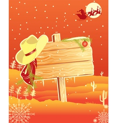 western christmas vector image