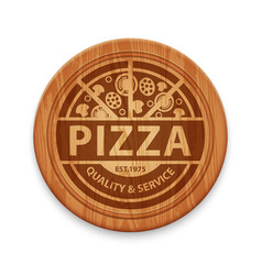 Pizza restaurant label vector