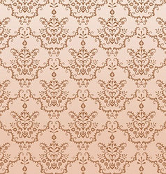 Golden seamless damask pattern vector
