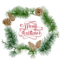 Merry christmas beautiful letters banner design vector