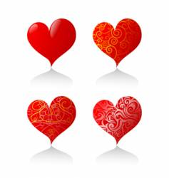 heart-shapes vector image