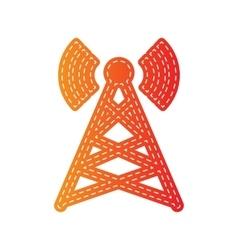 Antenna sign Orange applique vector image vector image