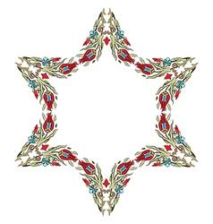 Antique ottoman turkish pattern design fifteen vector