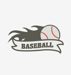 Baseball logo badge or label design template vector