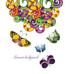 Different butterflies isolated on white backgroun vector