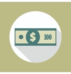 Dollar banknote icon vector
