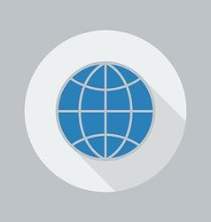 Eco Flat Icon Globe vector image vector image
