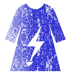 Electric power lady dress textured icon vector