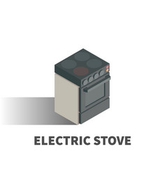 electric stove icon symbol vector image vector image