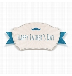 Fathers Day greeting blue and white paper Banner vector image