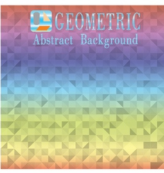 Geometric abstract colored background vector image
