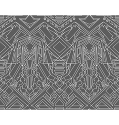 Geometric seamless pattern transformer vector