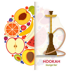 Hookah background with pipe for smoking tobacco vector