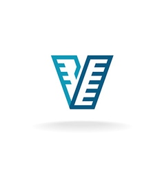 Letter V logo vector image vector image