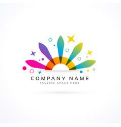 Party or cornival logo concept vector