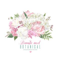 Romantic flowers composition vector