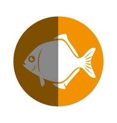 sea fish emblem icon vector image vector image