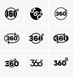Signes of 360 degrees vector