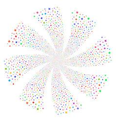 Sparcle star fireworks swirl rotation vector