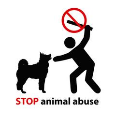 Stop animal abuse vector