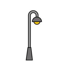Street lamp light bulb eletricity decoration vector