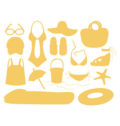 Summer and beach accessories vector
