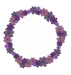 violet circular border with flowers vector image vector image