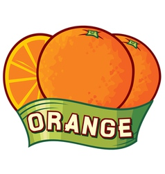 Orange label design vector