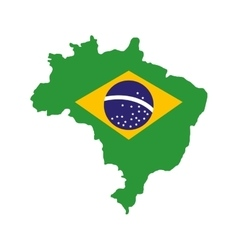 Brazil map geography isolated icon vector