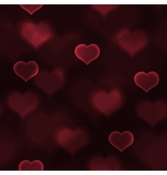 Abstract red love heart lights bokeh valentine vector