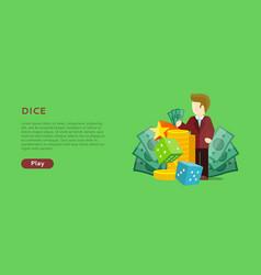 Casino gambling website template vector