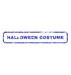halloween costume rubber stamp vector image