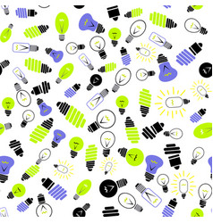 Electric lamp seamless pattern vector