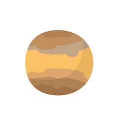 Jupiter isolated cartoon style brown planet of vector