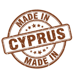 Made in cyprus brown grunge round stamp vector