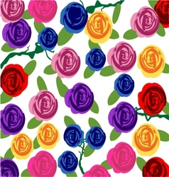 Rose flowers pattern background vector