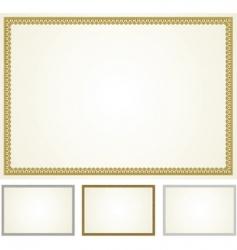 set of ornament frames vector image