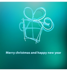 Christmas card template design  EPS8 vector image