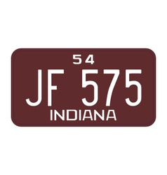 Indiana 1954 license plate vector