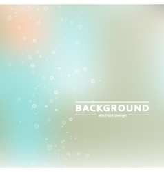 Background blur with a molecular structure vector