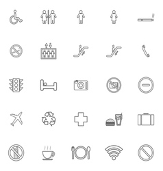 Public line icons on white background vector