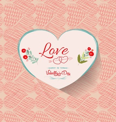 Happy valentine background floral vector