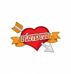Love you symbol vector image