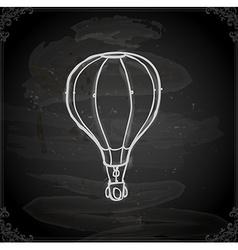 Hand Drawn Hot Air Balloon vector image
