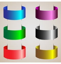 Varicolored ribbons of silk set vector