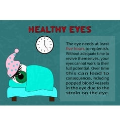 The need quality recreation for healthy eyes vector