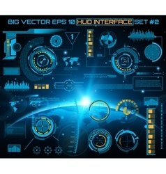 Graphic touch user interface HUD vector image
