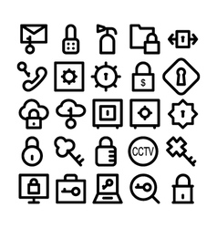 Security icons 2 vector