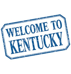 Kentucky - welcome blue vintage isolated label vector